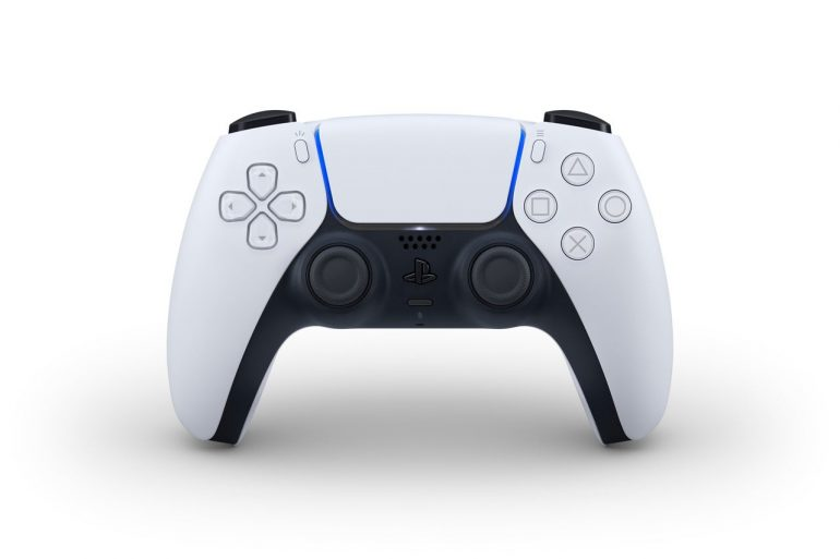 The PS5 DualSense controller features a removable faceplate